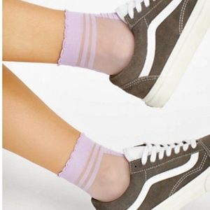 Free People Sheer Lavender Anklet Socks One Size